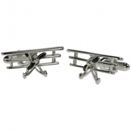 Triplane Fixed Wing Airplane Cufflinks